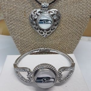 Jewelry - Seattle Seahawks Bracelet and Necklace set